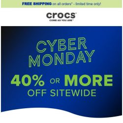 [Crocs Singapore] 💻 40% off sitewide. Happy Cyber Monday!