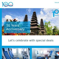 [KLM] Let's celebrate 10 years flying to Bali with amazing fares!