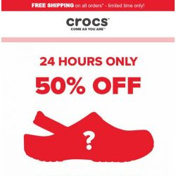 [Crocs Singapore] TODAY ONLY! ✨Flash Sale✨ 50% OFF!