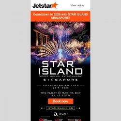 [Jetstar] 🎉 Countdown to 2020 with STAR ISLAND SINGAPORE!