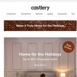 [Castlery] The Last of Christmas Sale! 5 Days Left