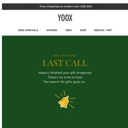 [Yoox] 🎁 Haven't finished your gift shopping?