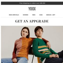 [Yoox] 📲Get an APPgrade: Make your shopping experience even more special!