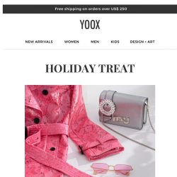 [Yoox] 🍭Holiday Treat!  25% and 35% OFF two special selections