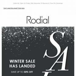 [RODIAL] 📣 Up To 50% Off   Sale Now On