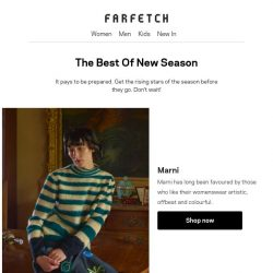 [Farfetch] New season has landed. Shop Marni, Fendi and more