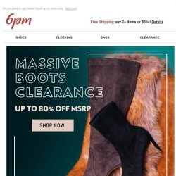 [6pm] This boots clearance is HUGE!