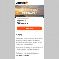 [Jetstar] Still thinking about Okinawa, Bq Sg?