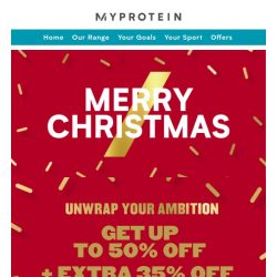 [MyProtein] 🎅 Merry Christmas 🎄