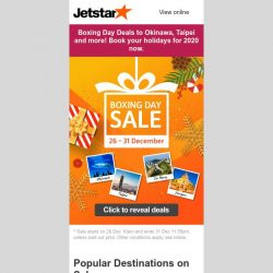 [Jetstar] 🎁 Boxing Day Sale starts now! Unbox your surprise today.