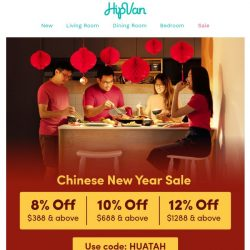 [HipVan] Get ready for CNY with our extra huat sale!🐭