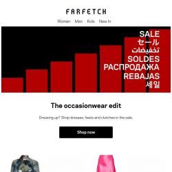 [Farfetch] Sale occasionwear just got better. 60% off better