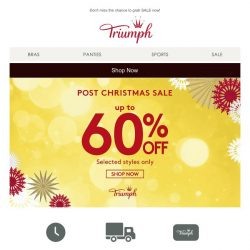 [Triumph] Not enough of Christmas shopping? Here's another reason to continue shopping!
