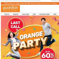 [Guardian] 📢 Last day for our Orange Party promotion!