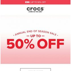 [Crocs Singapore] Up to 50% Off! Enjoy our End of Season Sale 👍