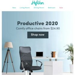 [HipVan] Cheers to a productive 2020 with quality office furniture!📝