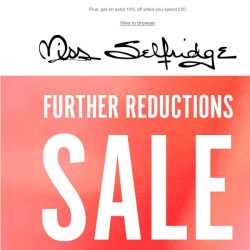 [Miss Selfridge] Sale goes further: now up to 70% off 🔥