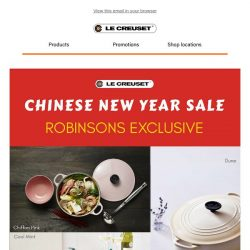 [Le Creuset] Special Buys from $19 🧧 CNY Sale @ Robinsons