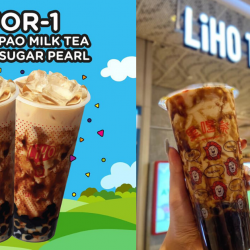 LiHO: Enjoy 1-for-1 Da Hong Pao Milk Tea + Brown Sugar Pearl (L) at Orchard Gateway Branch!