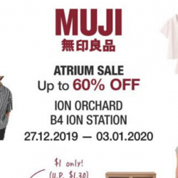 MUJI: Atrium Sale with Up to 60% OFF Garment & Household Items