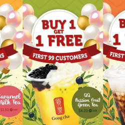 Gong Cha: Buy 1 Get 1 FREE at New Lot 1 Outlet!