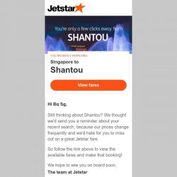 [Jetstar] Shantou is only a few clicks away, Bq Sg!