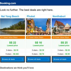 [Booking.com] Nai Yang Beach, Phuket, or Nonthaburi? Get great deals, wherever you want to go