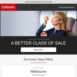 [Emirates] A better class of sale from SGD 579*