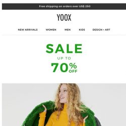 [Yoox] Sale: Now with up to 70% OFF