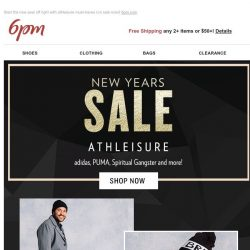 [6pm] New Years Sale: Athleisure!