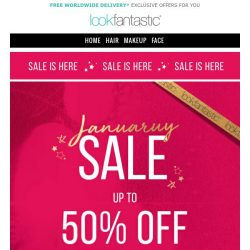 [lookfantastic] January Sale | Up to 50% Off