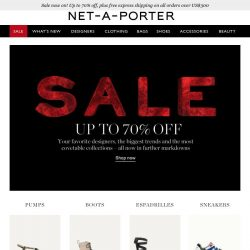 [NET-A-PORTER] 70% off shoes – don't miss out!