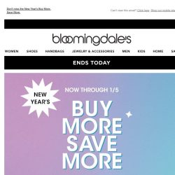 [Bloomingdales] Ends today! Take up to 30% off
