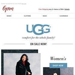 [6pm] UGG for the whole family (on sale)!