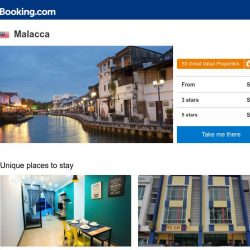 [Booking.com] Deals in Malacca from S$ 12