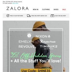 [Zalora] Bestsellers you'll love at 35% OFF!