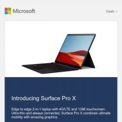 [Microsoft Store] New Surface Pro X. Pre-order today