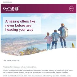 [Qatar] Amazing offers like never before are heading your way
