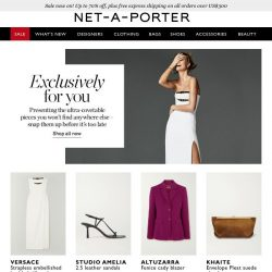 [NET-A-PORTER] Exclusively for you