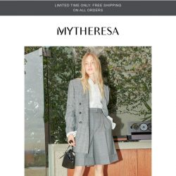[mytheresa] Limited time free shipping + The Workwear Edit