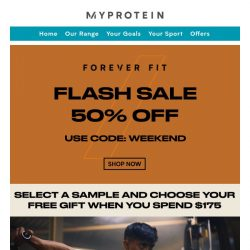 [MyProtein] Fuel Your #FOREVERFIT With 50% Off