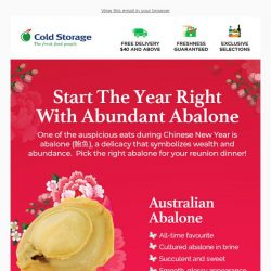 [Cold Storage] Start  the Year Right with Abundant Abalones!