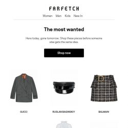 [Farfetch] The most-searched pieces on Farfetch right now