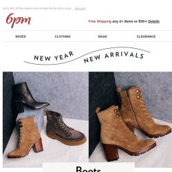 [6pm] New Year means new shoes (on sale)!