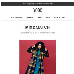 [Yoox] Winter essentials: What to wear now!