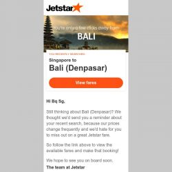 [Jetstar] Bali (Denpasar) is only a few clicks away, Bq Sg!