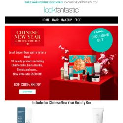 [lookfantastic] For You Only S$30 Off! | CNY Limited Edition Beauty Box 🎁