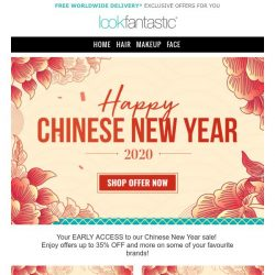 [lookfantastic] PRE CHINESE NEW YEAR | OFFERS LIVE