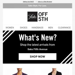 [Saks OFF 5th] A SPECIAL DELIVERY from Saks Fifth Avenue is here!