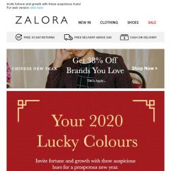 [Zalora] Your lucky Lunar New Year colours 🎨